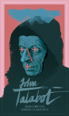 Poster for John Talabot show at Bilbao BBK Live2014