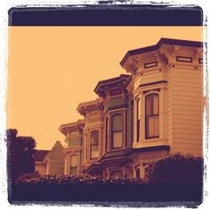 Victorian houses in San Francisco.