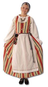 Kauhavan naisen kansallispuku Folk Clothing, Historical Clothing, Costumes Around The World, Ethnic Design, Costume Patterns, Folk Fashion, Folk Costume, International Fashion, Traditional Dresses