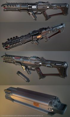 Some stuff that i did with the CIG team and their art director Paul Jones for the star citizen project. For the Gemini weapons, the original Design inspiration has come from CIG and Peter Ku. For the PAW, the original design was from CIG and Edon Guraziu. Sci Fi Weapons, Weapon Concept Art, Fantasy Weapons, Weapons Guns, Star Citizen, Rpg Cyberpunk, Walking Dead, Future Weapons, Star Wars