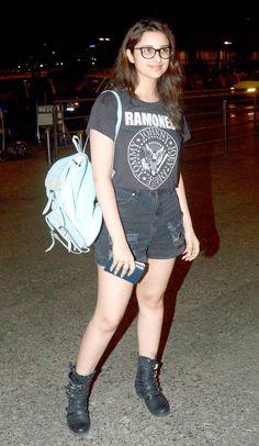 Parineeti Chopra at the Mumbai Airport. #Bollywood #Fashion #Style #Beauty…