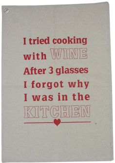 Cooking with wine.