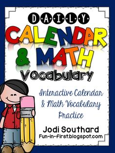 This calendar and math vocabulary supplement is the perfect interactive supplement to your calendar routine. You will find calendar pages with 40 … - Calendar Time, Daily Calendar, Calendar Pages, Math Vocabulary Words, Vocabulary Practice, 1st Grade Math, First Grade, Second Grade, Grade 1