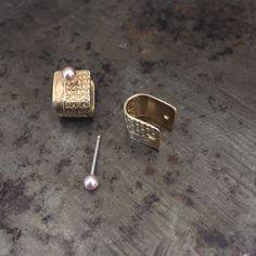 Tiny Diamonds + Pearls Pierced Ear Cuffs // Rackk + Ruin