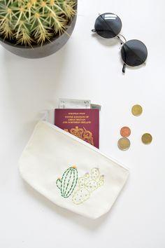 DIY | embroidered cacti purse @burkatron