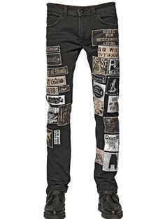 Diesel 17cm Patches On Cotton Denim Jeans on shopstyle.com