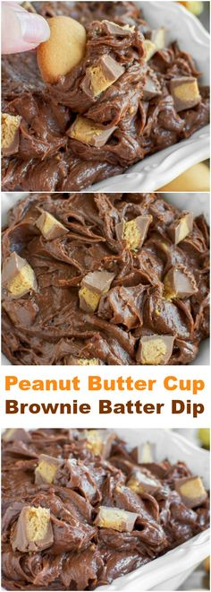 INCREDIBLE Peanut Butter Cup Brownie Batter Dip!!!