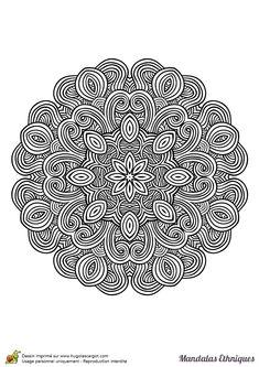 Coloriage mandala ethnique, répétition et symétrie - Hugolescargot.com