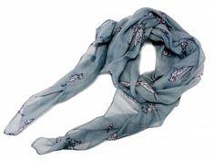 Schals für TierfreundeViskose-Schal-Hundemotiv: Dalmatiner grau