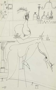 Saul Steinberg (1914-1999) At the Bar