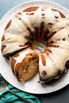 This is the ultimate summer cake! This peach bundt cake with brown butter icing is a true crowd pleaser and one of the best cakes I've had in awhile!