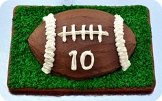 Tackling a Football Cake with a Grass Football Field Cookie