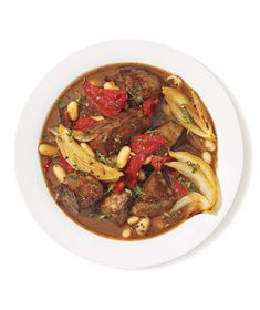 Get the recipe for Braised Beef With Sun-Dried Tomatoes and White Beans.