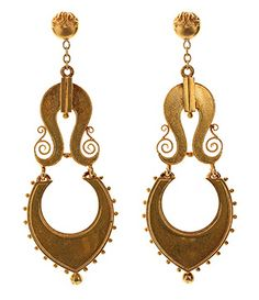 Victorian Gold Earrings @ Bell and Bird
