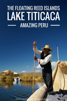 The floating reed islands of the Uros People on Lake Titicaca are nothing short of amazing. These artifical islands are unique to Peru and a must visit when in Puno. Lago Titicaca Peru, Lac Titicaca, Machu Picchu, South America Destinations, South America Travel, Holiday Destinations, Top Destinations, Bolivia, Ecuador