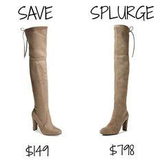 save vs splurge, steve madden, stuart weitzman, over the knee boots