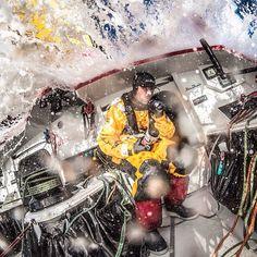 Leg 5 to Itajaí. Day 5. Extreme dental hygiene onboard @adorlog. Photo by Matt Knighton/Abu Dhabi Ocean Racing #volvooceanrace #sailing #southernocean #waves #extreme