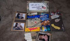 """I love this care package theme!! Definitely my next one!! """"Our Love is Deployment Strong"""""""