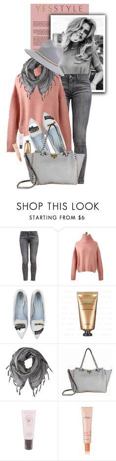 """YESSTYLE.com"" by monmondefou ❤ liked on Polyvore featuring Levi's, Chiara Ferragni, Love Quotes Scarves, Valentino, It's skin and YOSUZI"