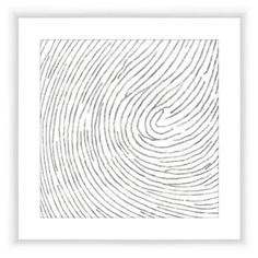 Check out this item at One Kings Lane! Silver Finger Print pattern