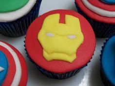 Cupcakes dos Vingadores - Homem de Ferro