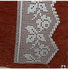 Filet Crochet, Crochet Lace Edging, Crochet Borders, Baby Knitting Patterns, Sewing Crafts, Needlework, Diy And Crafts, Projects To Try, Crafty