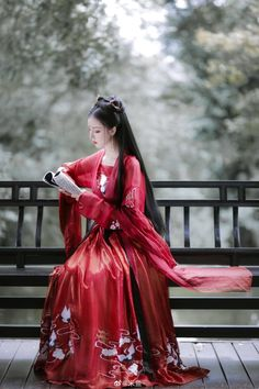 Kina Shen, China Girl, Chinese Clothing, Oriental Fashion, Hanfu, Pretty Asian, Ulzzang Girl, Chinese Style, Traditional Dresses