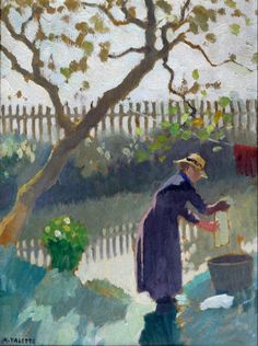 Adolphe Valette, Hanging out the Washing on ArtStack #adolphe-valette #art