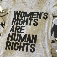 AMAZING #customtshirt hot off the presses here at #printliberation we loved it so much we made it available in the shop  (for a limited time only)  #womensrights #humanrights #womensmarchonwashington #raiseyourvoice
