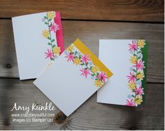 neat idea to coordinate stamps to a color border. Custom Edge stamping by amykunkle - Cards and Paper Crafts at Splitcoaststampers Flower Stamp, Flower Cards, Card Making Tutorials, Making Ideas, Flower Patch, Card Making Inspiration, Card Tags, Paper Cards, Cute Cards