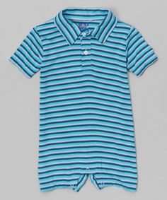 Loving this Trapeze Stripe Polo Romper - Infant on #zulily! #zulilyfinds
