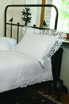 Gorgeous Vintage Linen and Lace Tray Cloth by Jenneliserose, $18.00 - Google Search