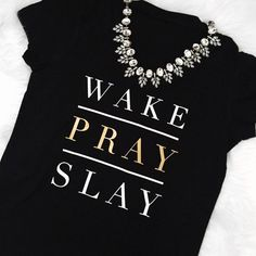 Wake Pray Slay Formation T-Shirt Soft Cotton100% combed ringspun cottonSemi Fitted Tees   I Slay Lemonade Formation inspired tee shirt