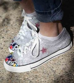 Glitter Sneakers | Revamp shoes with paint and glitter | Blinged shoes from Joann.com