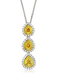 Fancy yellow diamond Sun Drops pendant from #AGSMember #Yael Designs  #AmericanGemSociety  @pinterest.com/amergemsociety/