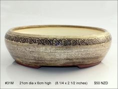 Quality stoneware medium bonsai pots for sale in New Zealand. Ikebana, Kiwi, Bonsai, Serving Bowls, Stoneware, Vases, Indoor Outdoor, Decorative Bowls, Artists