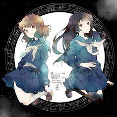 """""""Kousaka Reina"""" """"Oumae Kumiko"""" Sound! Euphonium"""