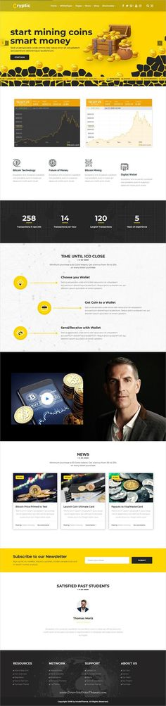 Cryptic is clean and modern design 5in1 responsive #wordpresstheme  for crypto currency exchange #market, Crypto currency #investment  and ICO agencies #website to live preview & download click on Visit 👆 #currencyexchange