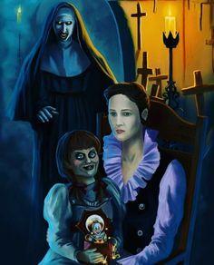 The Conjuring Annabelle, Lorraine Warren, Vera Farmiga, Nun, Draco Malfoy, Horror, Universe, Marvel, Dark