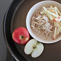 Apple & coconut bircher muesli