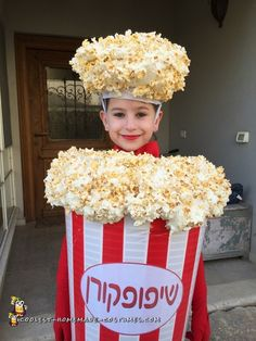 What+a+Cool+DIY+Popcorn+Costume+AND+Ceiling+Lampshade!