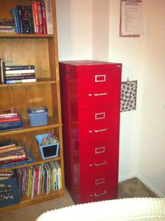 Painted file cabinet                                                                                                                                                                                 Plus