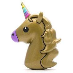 Emoji Portable Charger Power Bank Poop Unicorn Devil (Gold Unicorn)