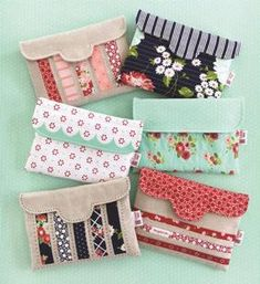 Pretty Little Pouches II Sewingn Pattern Download by Cotton Way