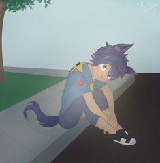 I don't cry. by xWclfie on DeviantArt Aphmau Ein, Aphmau Pictures, Aphmau My Street, Aphmau Youtube, Aphmau Memes, Aphmau And Aaron, Aphmau Fan Art, Minecraft Anime, Werewolf