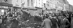 Oct 4 1936 - Oswald Moseley's fascist Blackshirts stopped from marching thru East London, by mass mobilisation at the Battle of Cable Street