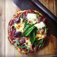 Pizza with a cauliflower base!?!?! I must try this