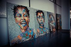 Meet the artist who paints with recycled plastic 2 - MaterialDistrict Art From Recycled Materials, Traditional Paint, South African Artists, Art And Craft Design, Flower Bomb, Gcse Art, Black Artists, Meet The Artist, Cool Artwork