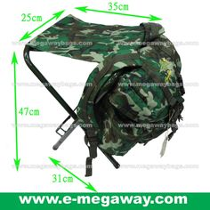 #Benisport #Detachable #Hunting #Backpack #Metal #Seat #Chair #Camouflage #Shooting #Fishing #Army #Megaway #MegawayBags #CC-1391 on Carousell