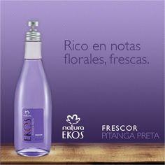 Frescor Pitenga preta, 150 ml. Camino olfativo: floral, refrescante, hojas de pitanga preta. S/.50 Precio de catalogo: S/.68